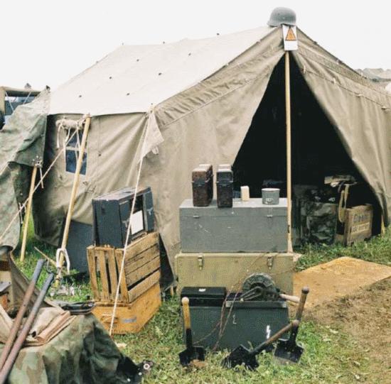 German Staff Tent
