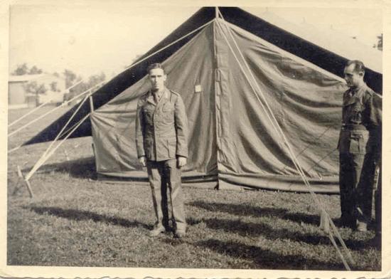 German troop tent