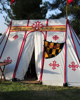 Medieval Wedge Tent Striped