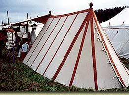 Museum Wedge Tent Striped