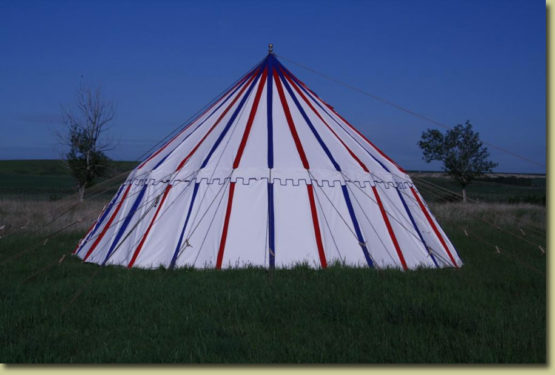 Striped Pavilion Tent