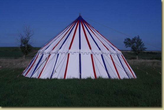 Striped Pavilion Tent
