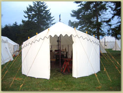 Raised End Marquee Tent