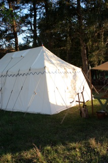 Rectangular Marquee Tent with Slant Walls