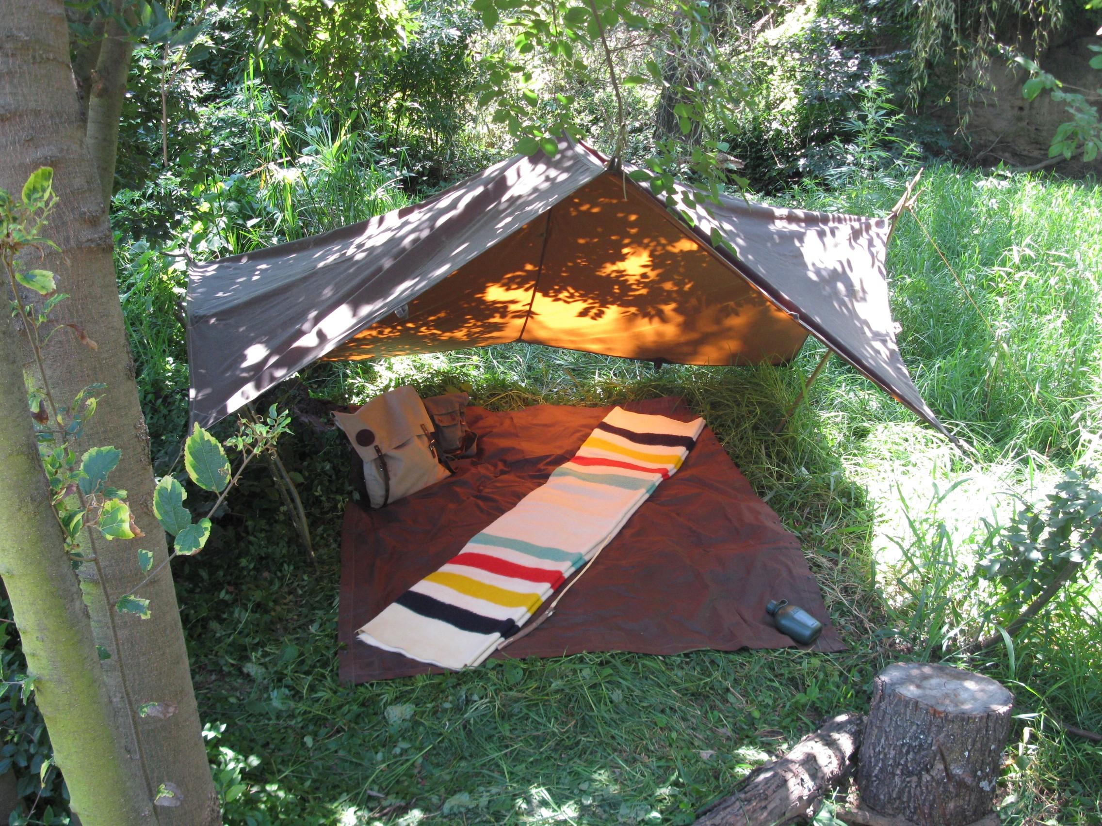 Tentsmiths Oilskin Tarp & Oilskin Shelter in Various Sizes