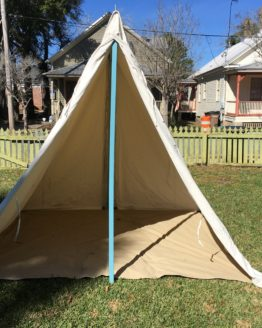 open canvas tent