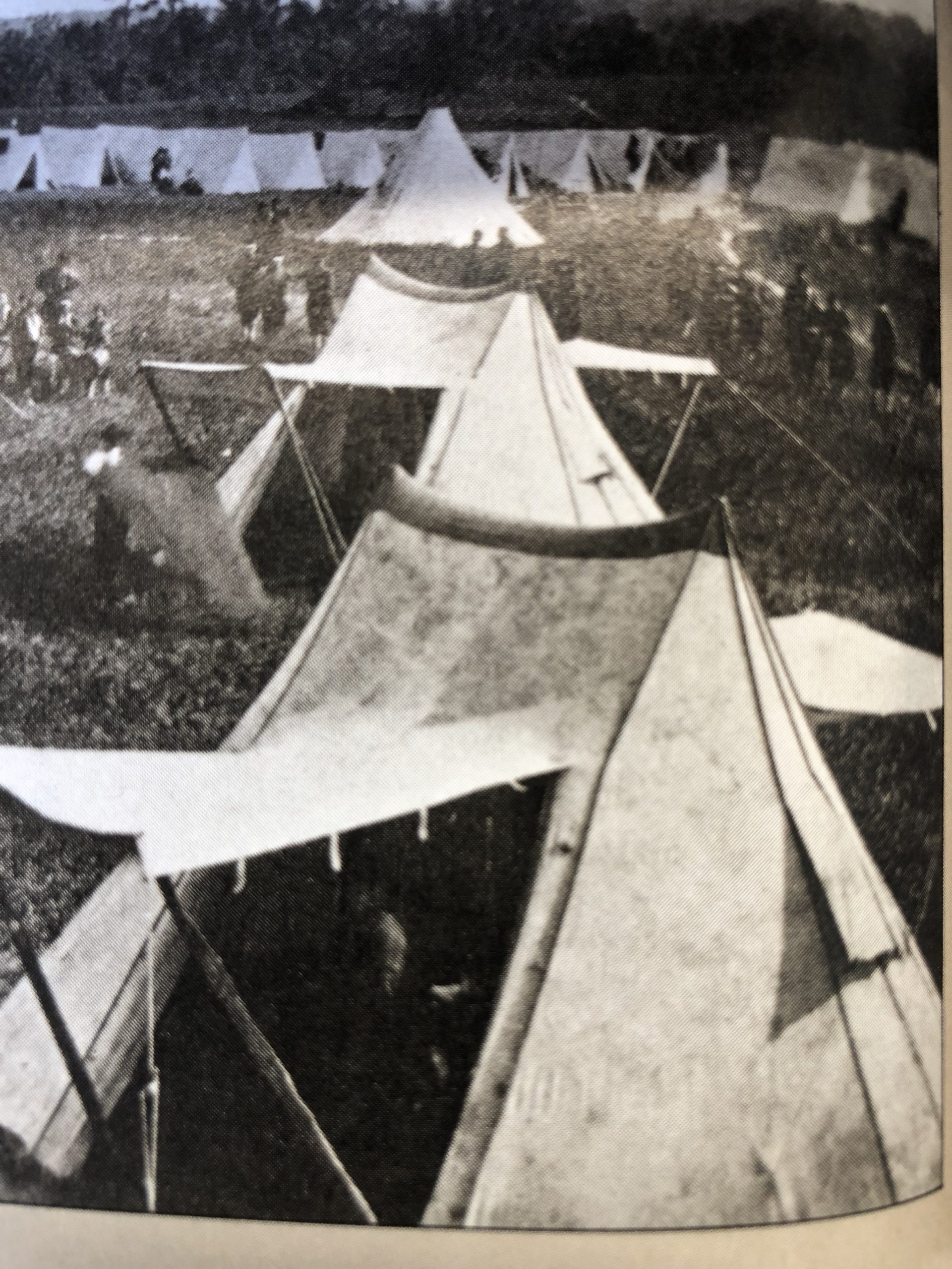 old photo of a Civil War encampment