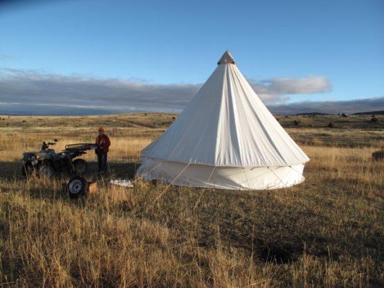 round canvas tent