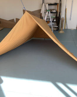 small tan tent