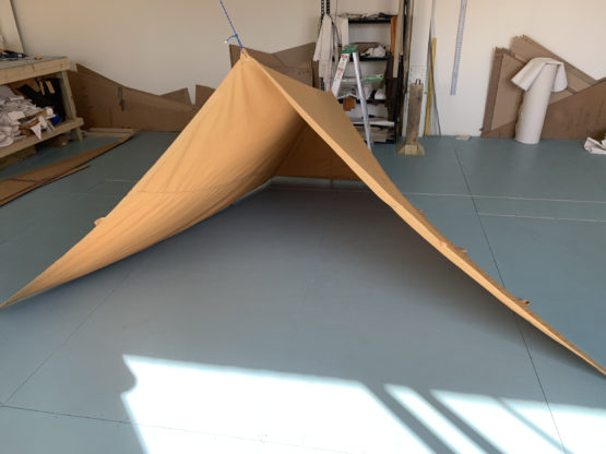 small tan tent