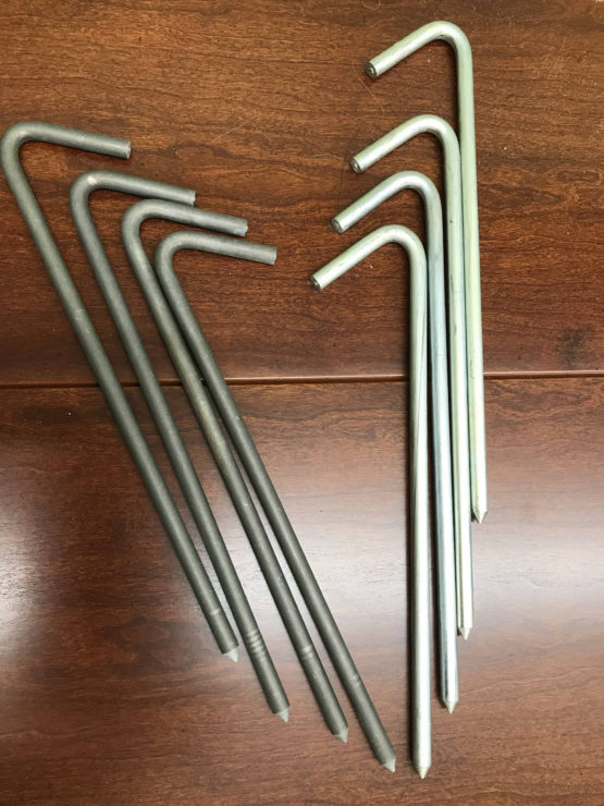 steel stakes